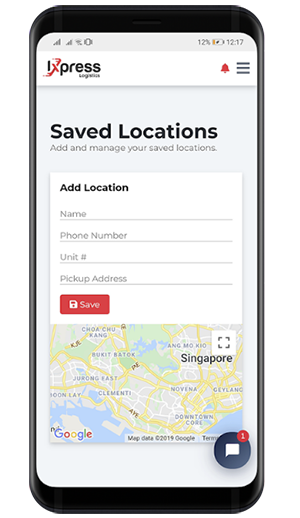 saved locations mobile